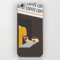kansas city iPhone & iPod Skins featuring Kansas City Food - Coffee by greetingsfromKC