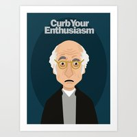 larry david Art Prints featuring Larry David by Spencer Rizk