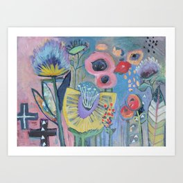 Flowers soul shine Art Print