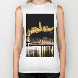 Budapest Chain Bridge And Castle Art Biker Tank