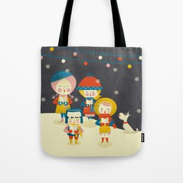 Christmas Carols Singers Tote Bag