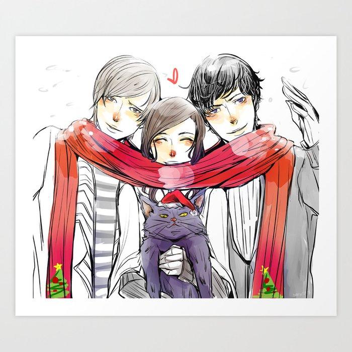 Jem, Tessa and Will Art Print
