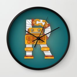 R is for Robot. Wall Clock