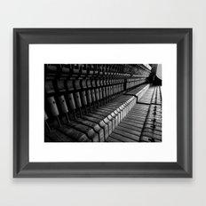 Silent Piano Keys Framed Art Print