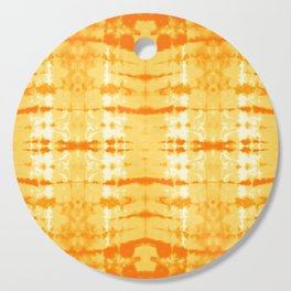 Satin Shibori Yellow Cutting Board