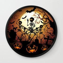 Skeletons Macabre Dance Wall Clock