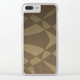 Wings and Sails - Beige and Brown Clear iPhone Case