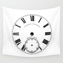 Time goes by vintage clock Wall Tapestry