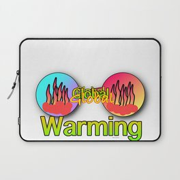 GLOBAL WARMING Graphic Design Illustration Laptop Sleeve