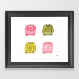 sweater collection Framed Art Print