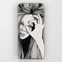 leo iPhone & iPod Skins featuring Leo by Hanna Viktorsson