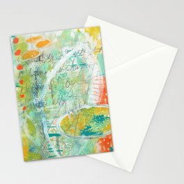 abstract 3 the great loneliness Stationery Cards