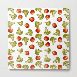 Broccoli and tomato Metal Print