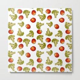 Broccoli and tomato Metal Print
