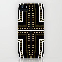 Black White + Gold iPhone Case