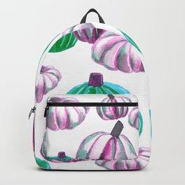 Watercolor Halloween Pumpkins - Pink & Neon Green Backpack