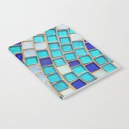 Blue Tiles - an abstract photograph. Notebook