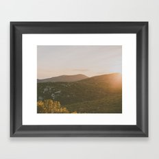 A winter sunset Framed Art Print