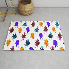 Homebody Pattern - Introvert Day and Night Rug
