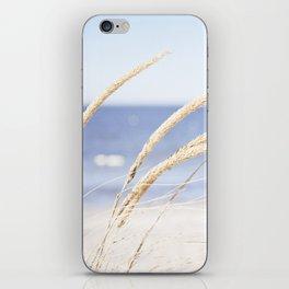 Beach Grass Blue Photography, Coastal Ocean Landscape, Sea Seashore Seascape Shore iPhone Skin