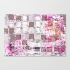 Abstract grunge Squares pating with typography Canvas Print