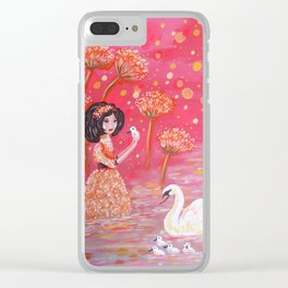 The Swan Girl Clear iPhone Case