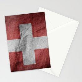 Old Vintage Grunge Switzerland Flag Stationery Cards