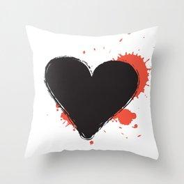 I Heart Live Art II Throw Pillow
