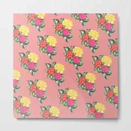floralpink pattern Metal Print