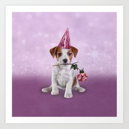 Drawing Puppy Jack Russell Terrier Art Print