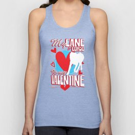 My Cane Corso Is My Valentine Funny Dog Lover T-Shirt Unisex Tank Top