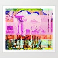 Seattle   Project L0̷SS   Art Print