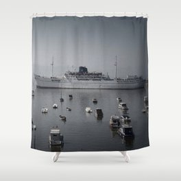 small and big boats Shower Curtain