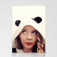 onesie Stationery Cards featuring Panda Onesie Nomi by Naomi Shingler