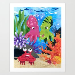 Squid Lovin' Art Print