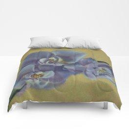 Purple Orchids Comforters