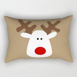 Christmas Reindeer-Brown Rectangular Pillow