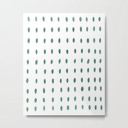 Paint Dabs in Green Metal Print