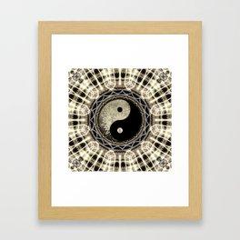 Yin Yang Geometry Mandala V1 Framed Art Print