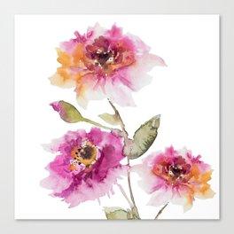 watercolor Dahlia Canvas Print