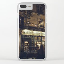 Bookstore with charm Clear iPhone Case