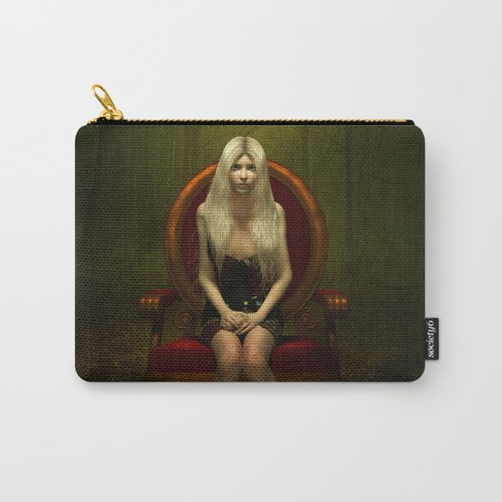 Dark wonderland Alice on a red chair Carry-All Pouch