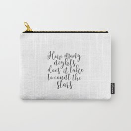 One Direction Quote Printable Art Stars And Moon Inspirational Print Wall Art One Direction Poster Carry-All Pouch
