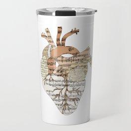 Sound Of My Heart (on white) Travel Mug