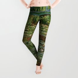 "Claude Monet ""The Japanese Footbridge and the Water Lily Pool, Giverny"" Leggings"