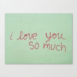 USA - AUSTIN - I Love You So Much Canvas Print