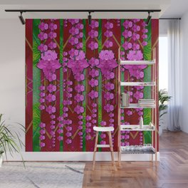 jungle flowers in the orchid jungle ornate Wall Mural