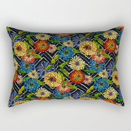 Chrissy Flowers Bohemian Rectangular Pillow