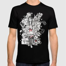 wonderland shattered MEDIUM Black Mens Fitted Tee