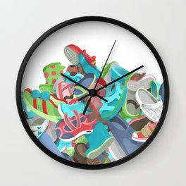 Tons of Shoes Wall Clock